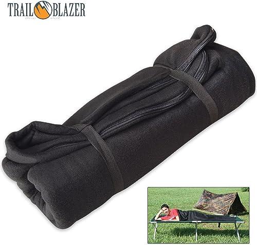 Trailblazer Fleece Sleeping Bag Liner – Black