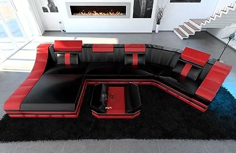 Cuero Conjunto de Muebles Para Salón TURINO C Forma Rojo ...