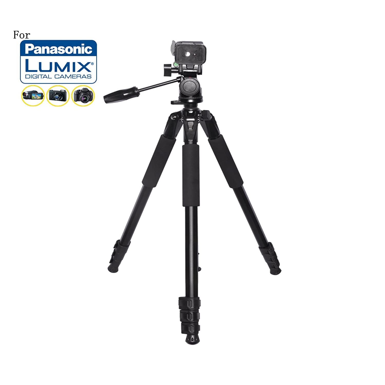 80インチHeavy Dutyポータブル三脚for Panasonic Lumix DMC - gf1、dmc-gf2、gh1、dmc-gh2、DMC - gh3、- gh4、dmc-gm5、gx1カメラ:旅行三脚   B01MDTL67I