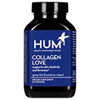 HUM Collagen Love - Collagen Peptides with Hyaluronic Acid & Vitamin C Skincare Supplement - Support Skin Firmness & Help Visibly Minimize Signs of Aging - Type I & III Collagen Vitamins (90 Capsules)