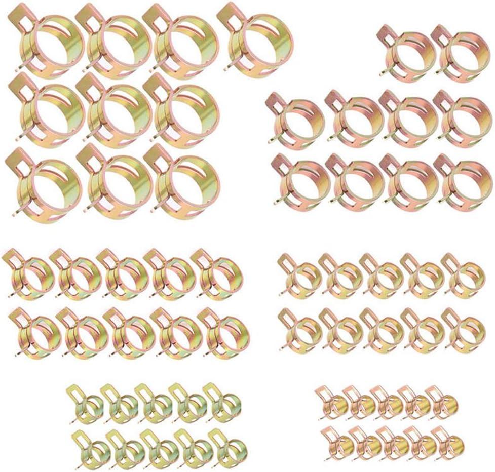60 Unids Conjunto Surtido de Acero Inoxidable Abrazaderas de Manguera Manguera de Combustible L/ínea Abrazadera de Tuber/ía de Agua Aros Tubo de Aire M/ás R/ápido Clips de Primavera 6//9//10//12//14 15mm