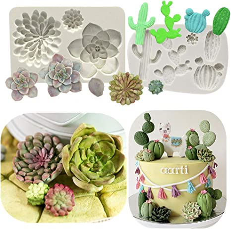 4 Cavities Cactus Plant Modeling Mold-DIY Candy Mold-Silicone MoldResin Mold-Chocolate Mold-Cake Mold-Ice Cube Mold
