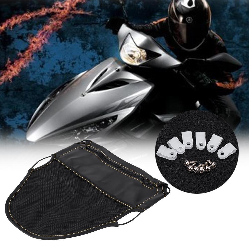Scooter da Moto Sotto lOrganizzatore del Sacchetto di Immagazzinamento del Sedile Borsa da Sella Moto Pelle PU