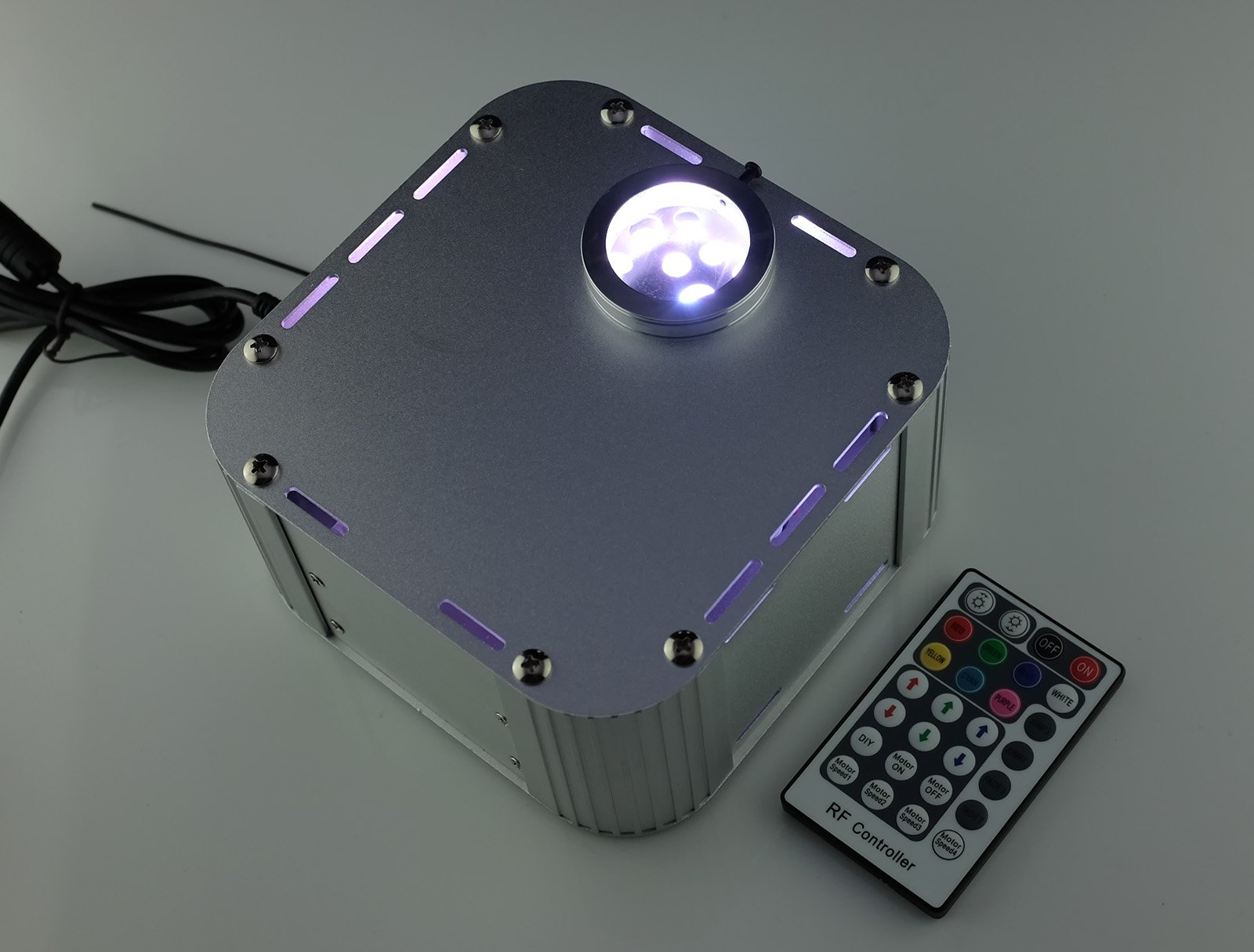 Decoration Fiber Optic Light Source 27w RGB Led Engine Wireless Rf Remote Twinkle Optical Fiber Lamp
