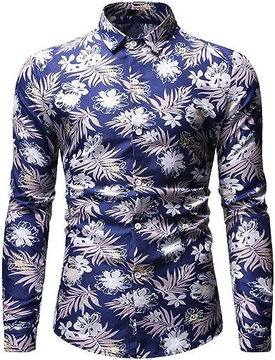 Camiseta Manga Larga Deporte,De Los Hombres Moda Hawaiano ...