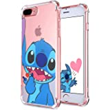 "Logee Sweet TPU Cute Cartoon Clear Case for iPhone 8 Plus/7 Plus 5.5"",Fun Kawaii Animal Soft Protective Cover,Ultra-Thin Shoc"