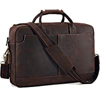 Deals on Kattee Vintage Genuine Leather 15.6-in Laptop Messenger Bag
