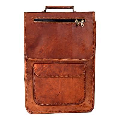 Reyansh Vintage Bag Leather Handmade Vintage Style Backpack/College Bag