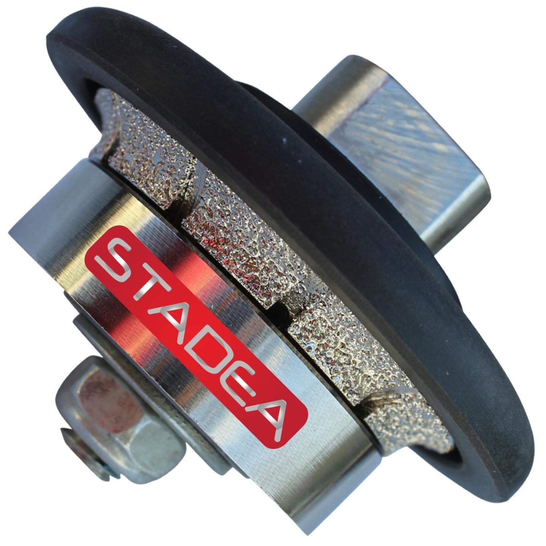 3/16'' stone granite diamond profile wheel - For Hand Profiler Marble Demi Half Bullnose Radius B5 Edges Grinding by STADEA
