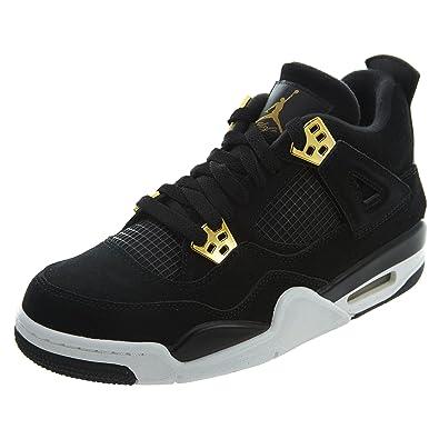 Zapatillas de baloncesto Jordan Nike Kids Air 4 Retro BG Negro ...