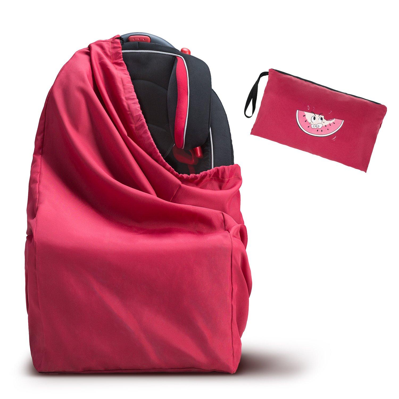 Kinderwagen Transporttasche - WoNiu Transporttaschen Reisetasche mit Schultergurt, wasserdichte Oxford Tasche zum Verladen von Autositzen, Kinderwagen, Rollstühlen, Druckwagen - Rot Rollstühlen