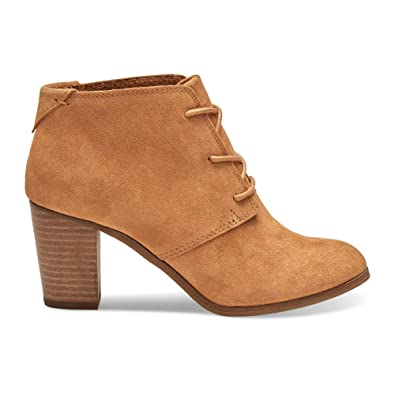 112e9d8b8 Amazon.com | TOMS Women's Lunata Lace-Up Casual Booties Taupe Suede ...