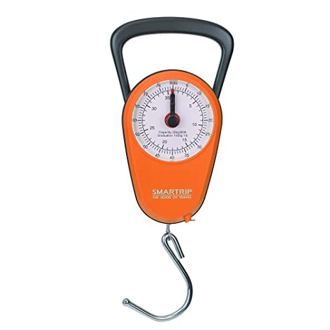 Roll Over Image to Zoom in AccuDial No Batteries Accurate Easy Reading  Analog Compact Handy Luggage Scale