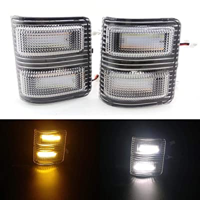 Xinctai Switchback LED Side Mirror Marker Light Turn Signal Lamp for 2008 to 2016 Ford F250 F350 F450 F550 Super Duty Pickup Truck, Smoke Lens/Clear Lens (Clear Lens): Automotive