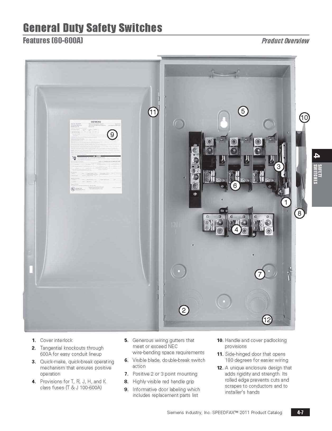 Siemens Gf322n 60 Amp 3 Pole 240 Volt 4 Wire Fused General Duty Diagram For Volts Indoor Rated
