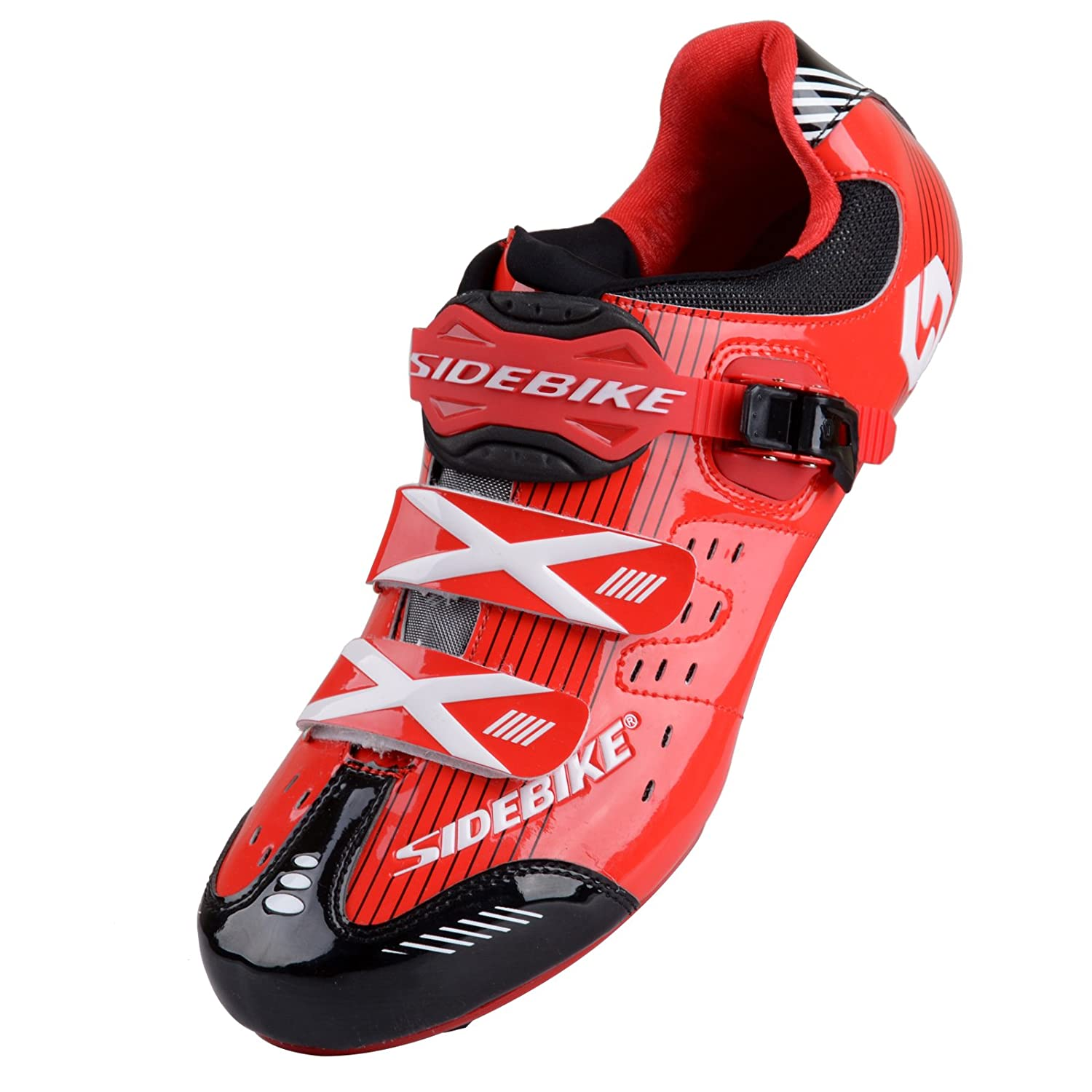 Red Black for Road Smartodoors Sidebike SD002 Men's All-Around Road Cycling shoes with Carbon Soles