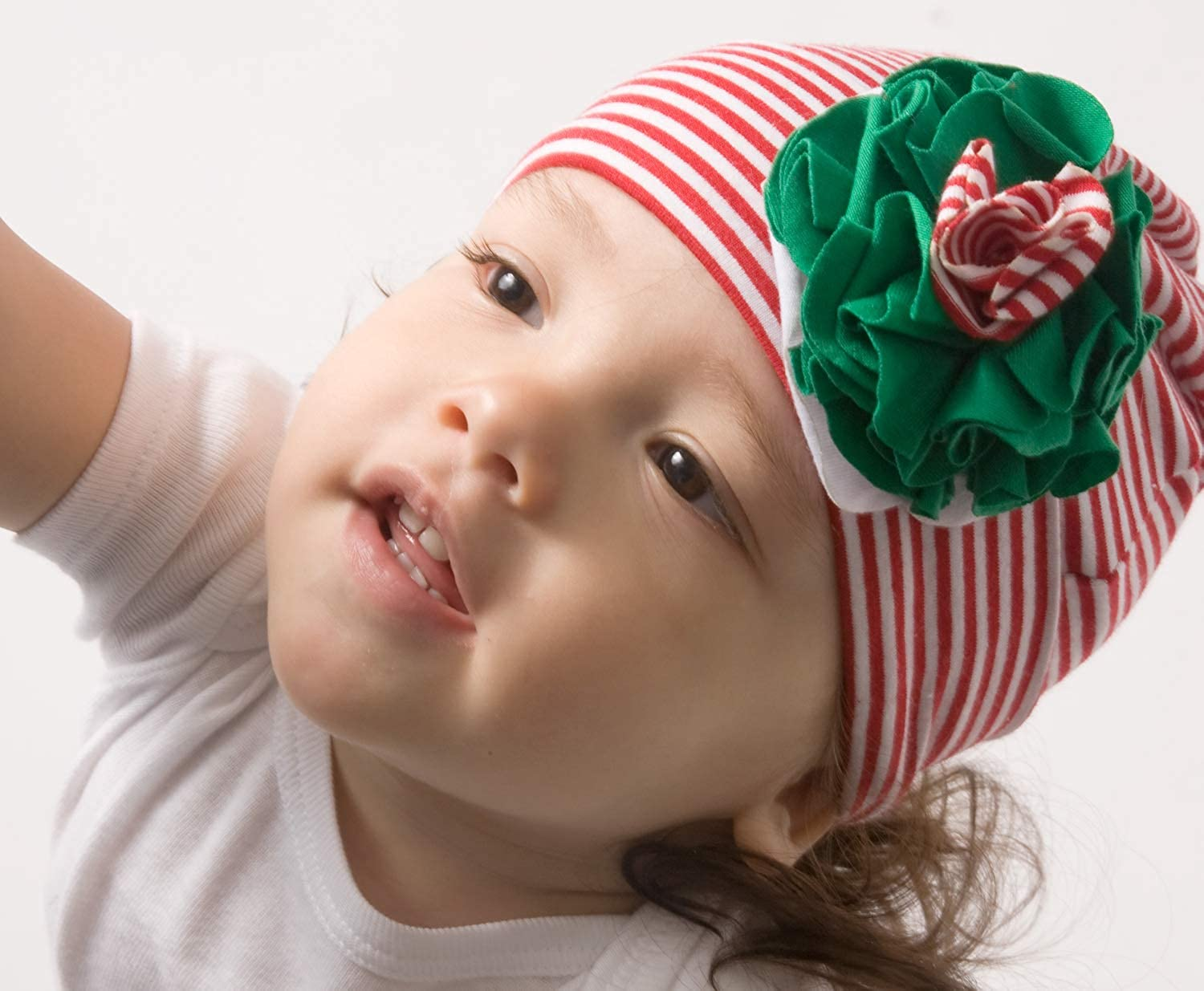 Itty Bitty /& Pretty 0-12 Month Christmas Flower Hat