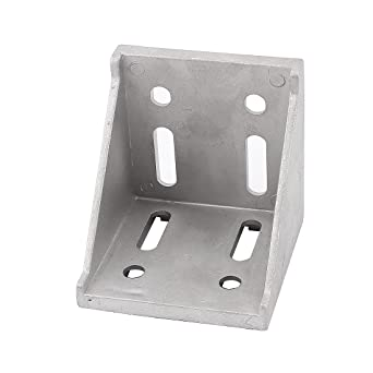 Silver Tone Metal 8 Holes Right Angled Corner Brace Angle Bracket 60mmx60mm
