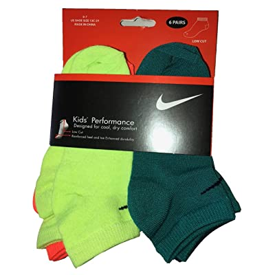 Nike Boys 6 Pairs/Pack Low Cut Performance Socks