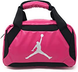 Nike Jumpman Premium Vivid Pink/Black/Metallic Silver Lunch Tote