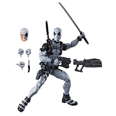 "Marvel E1974 Hasbro Legends Series 12"" Deadpool Action Figure From Uncanny X-Force Comics with Blaster/Weapon Accessories & 30 Points Of Articulation ( Exclusive): Toys & Games"