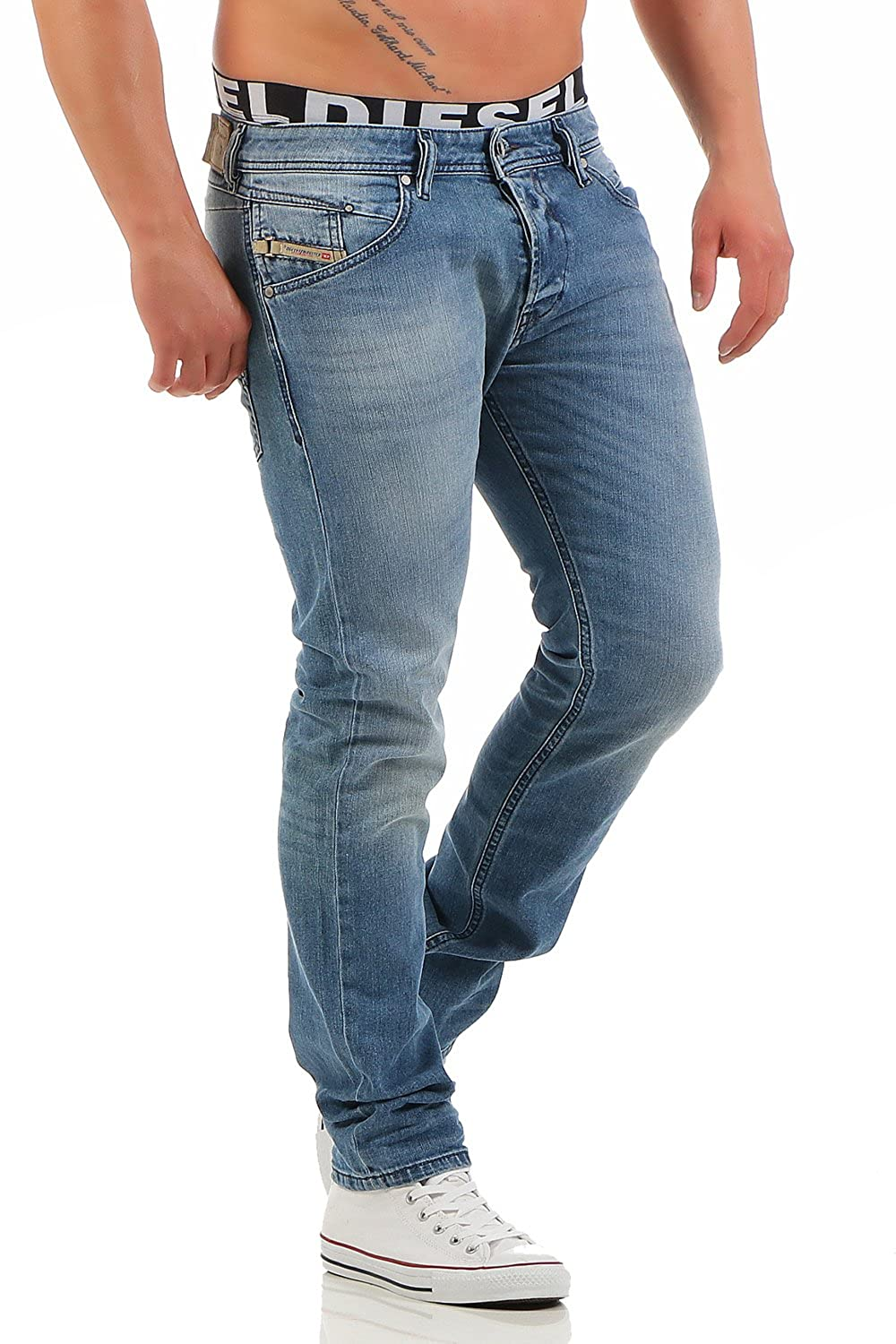 45249172 Amazon.com: Diesel mens Stretch Jeans BELTHER 0842H blue: Clothing