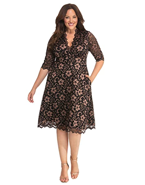 Kiyonna Women\'s Plus Size Mon Cherie Lace Dress