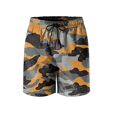 d541077b5e0 Amazon.com  AA WIU Red Camouflage Men Summer Quick Dry Swim Trunk ...