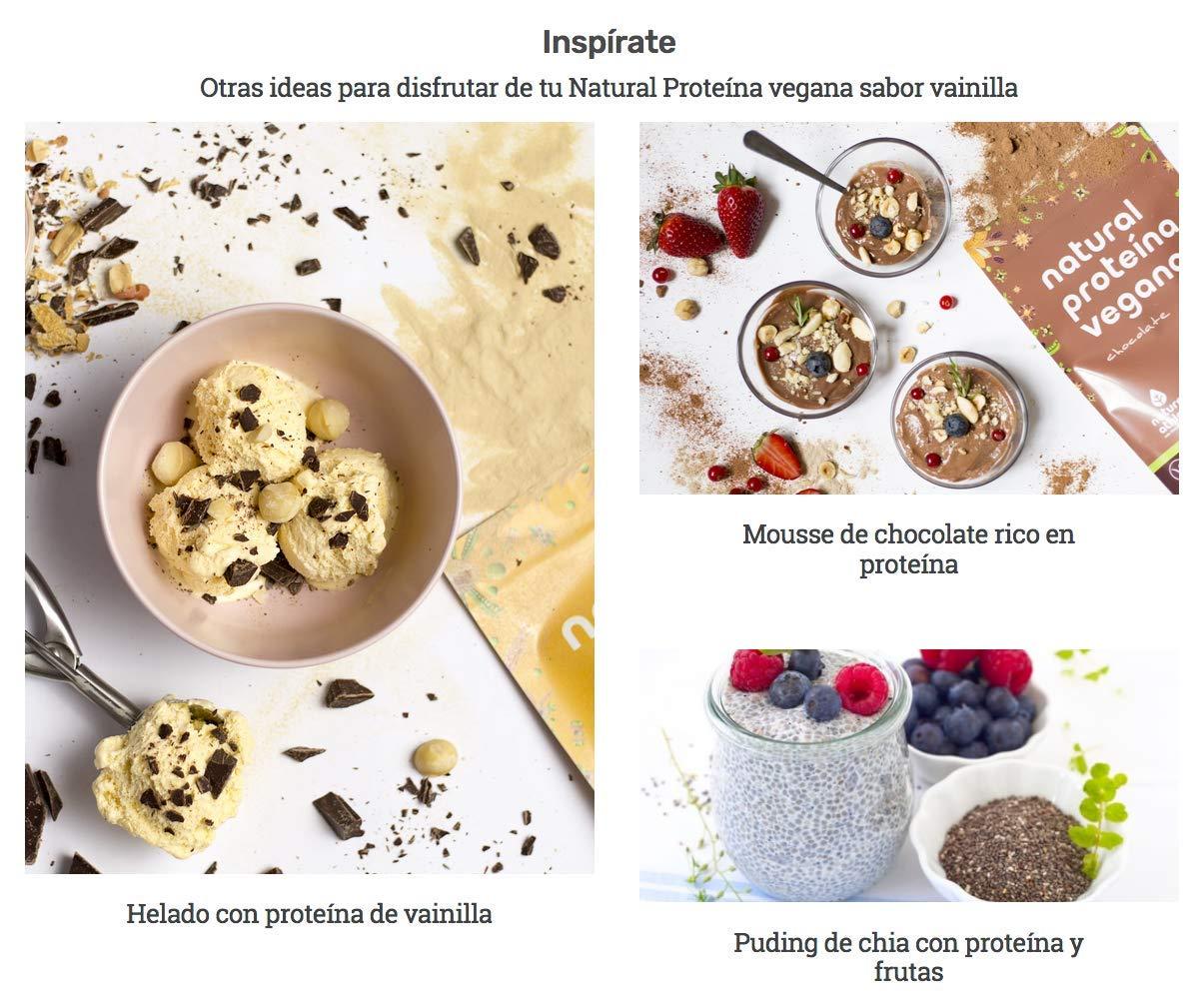 Proteína Vegana de Vainilla - Natural Athlete - 72% de proteína - 100% Natural - BIO - Sin Gluten - Sin Lactosa - Sin Azúcar añadido. 350g