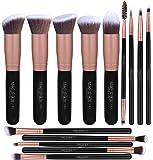 Makeupbox 14 Brochas de maquillaje kabuki Rose Gold Profesionales Gran Aplicación Suaves y Firmes%100 Veganas y cruelty fre