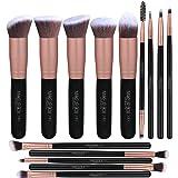 Makeupbox 14 Brochas de maquillaje kabuki Rose Gold Profesionales Gran Aplicación Suaves y Firmes%100 Veganas y cruelty fre (