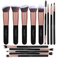 Makeupbox 14 Brochas de maquillaje kabuki Rose Gold Profesionales Gran Aplicación Suaves y Firmes%100 Veganas y cruelty free