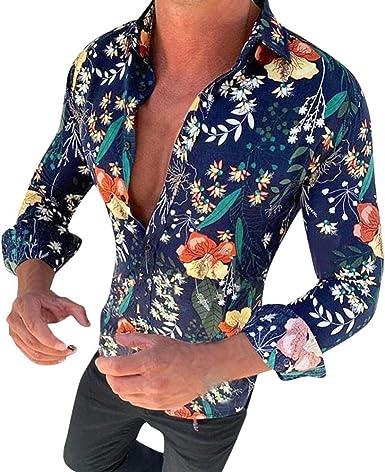 Sxgyubt Camisa de ocio para hombre con estampado de girasol y ...