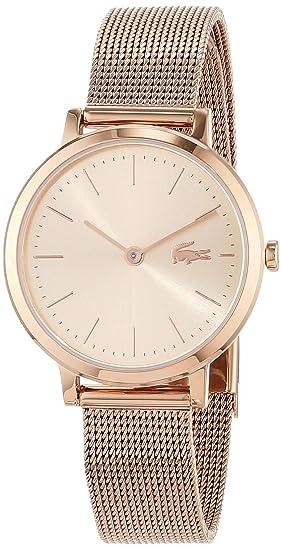 Lacoste Reloj Analógico para Mujer de Cuarzo con Correa en Oro Rosa 2001051: Amazon.es: Relojes