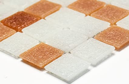 Rete mosaico mosaico piastrelle parete mix bianco marrone marrone
