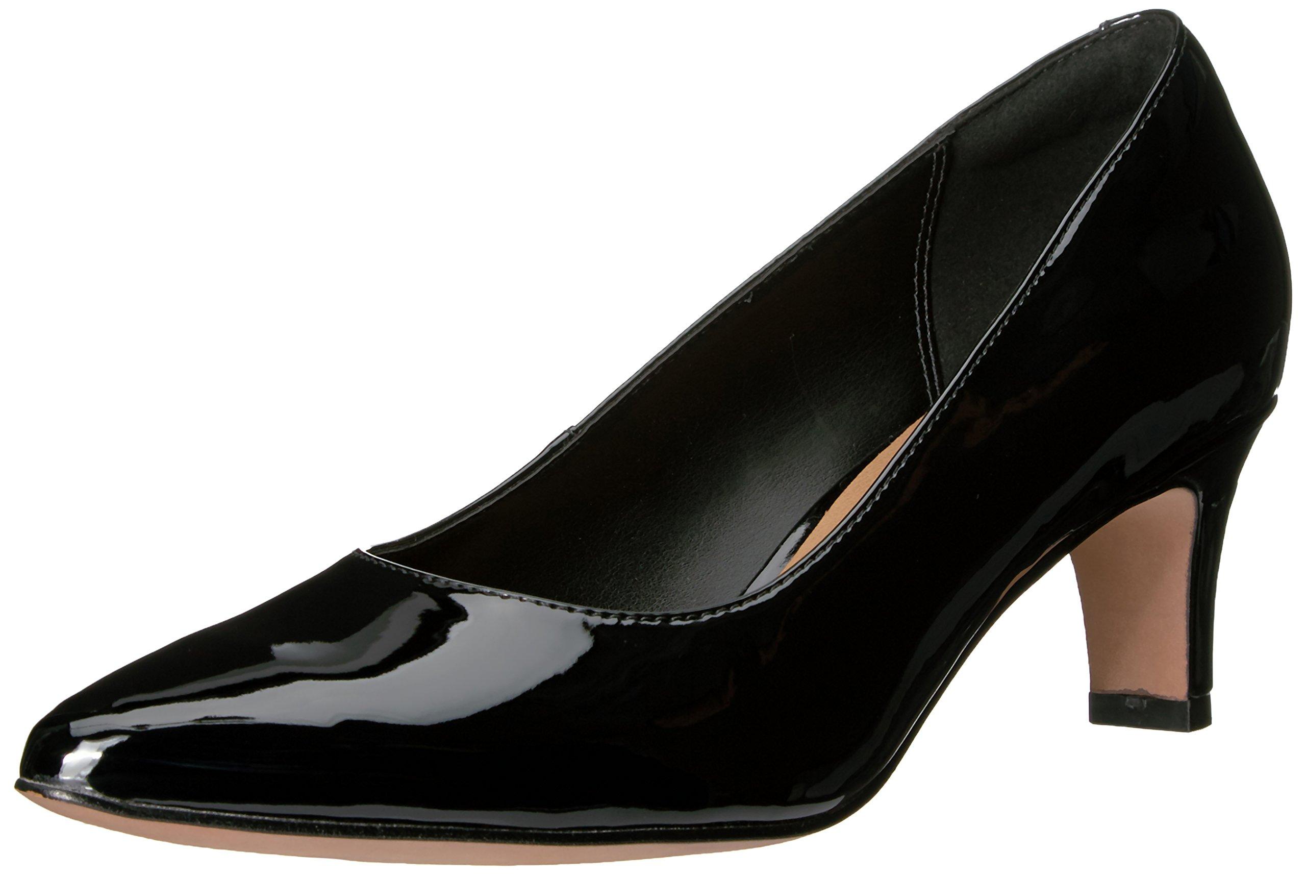 CLARKS Women's Crewso Wick Dress Pump, Black Patent Synthetic, 5.5 M US