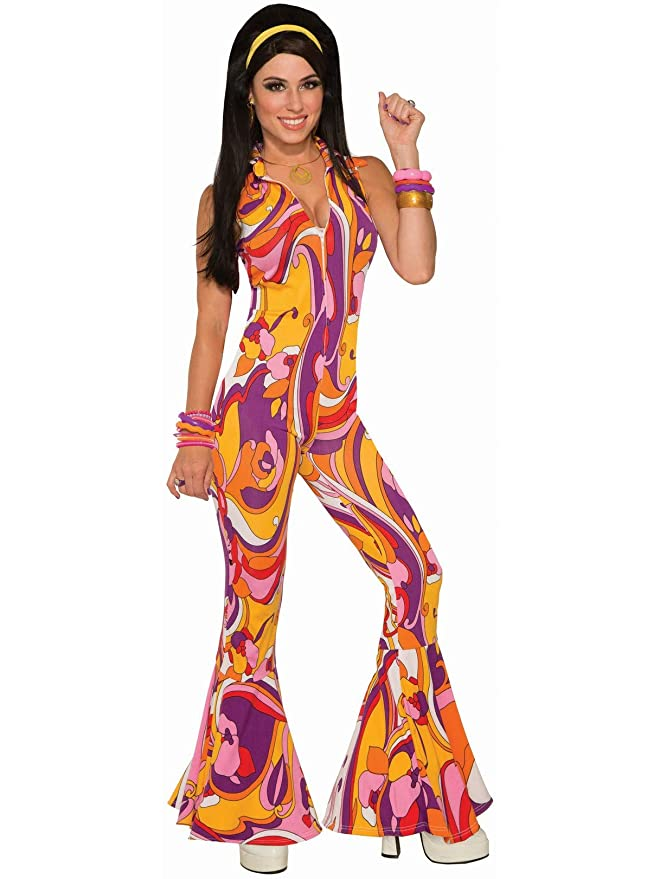 70s Costumes: Disco Costumes, Hippie Outfits Forum Novelties - Funky Jumpsuit Lady Costume $19.00 AT vintagedancer.com