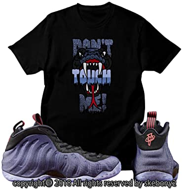 8622926ac223 Custom T Shirt Matching Style of Nike Air Foamposite One Denim Foam 1-17-