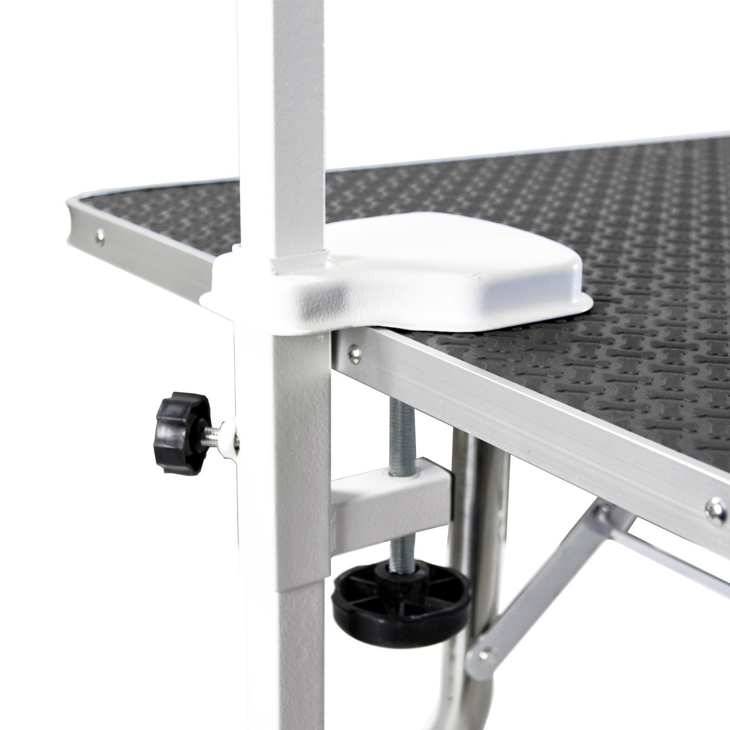 Flying Pig Grooming Medium Stainless Steel Frame Foldable Dog Pet Table, 38'' by 22'', Black by Flying Pig Grooming (Image #3)