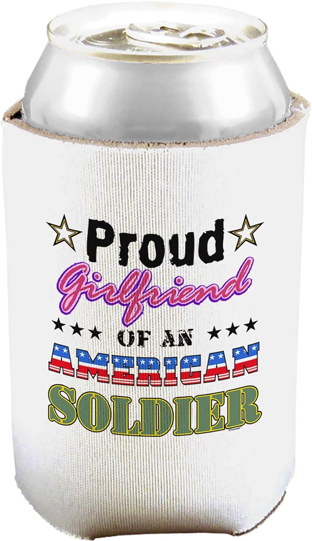 Orgullosa novia de soldado de la American puede y botella aislante refrigerador blanco