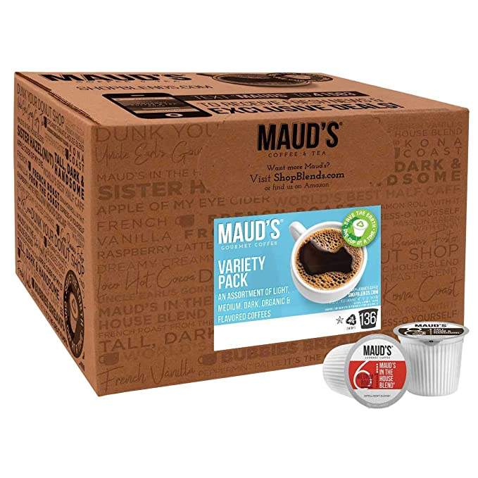 Mauds Dark Roast Coffee, 100 ct. Recipientes de café ...