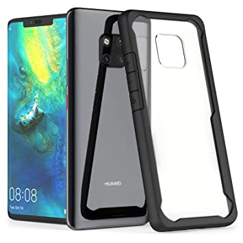 size 40 cfdc7 c0eb2 Caseflex Huawei Mate 20 Pro Case with HD Transparent Clear Hybrid  Shockproof Protection [Ultra-Thin] with Soft Flexible Edges in Matte Black  Finish ...