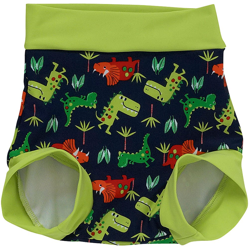 H2O Babies Boys Dinosaur Swim Diaper Nappy Cover Trunks Resusable Washable