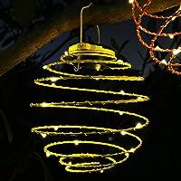 HANKEY Outdoor Solar Lights Hangling Solar Spiral Lantern Waterproof Solar Garden Light Auto On/Off Decoration for Garden, Patio, Balcony 6.1 in