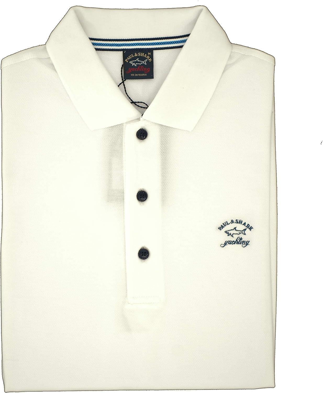 PAUL & SHARK Polo, Informal, Regular, algodón Bianco L: Amazon.es ...