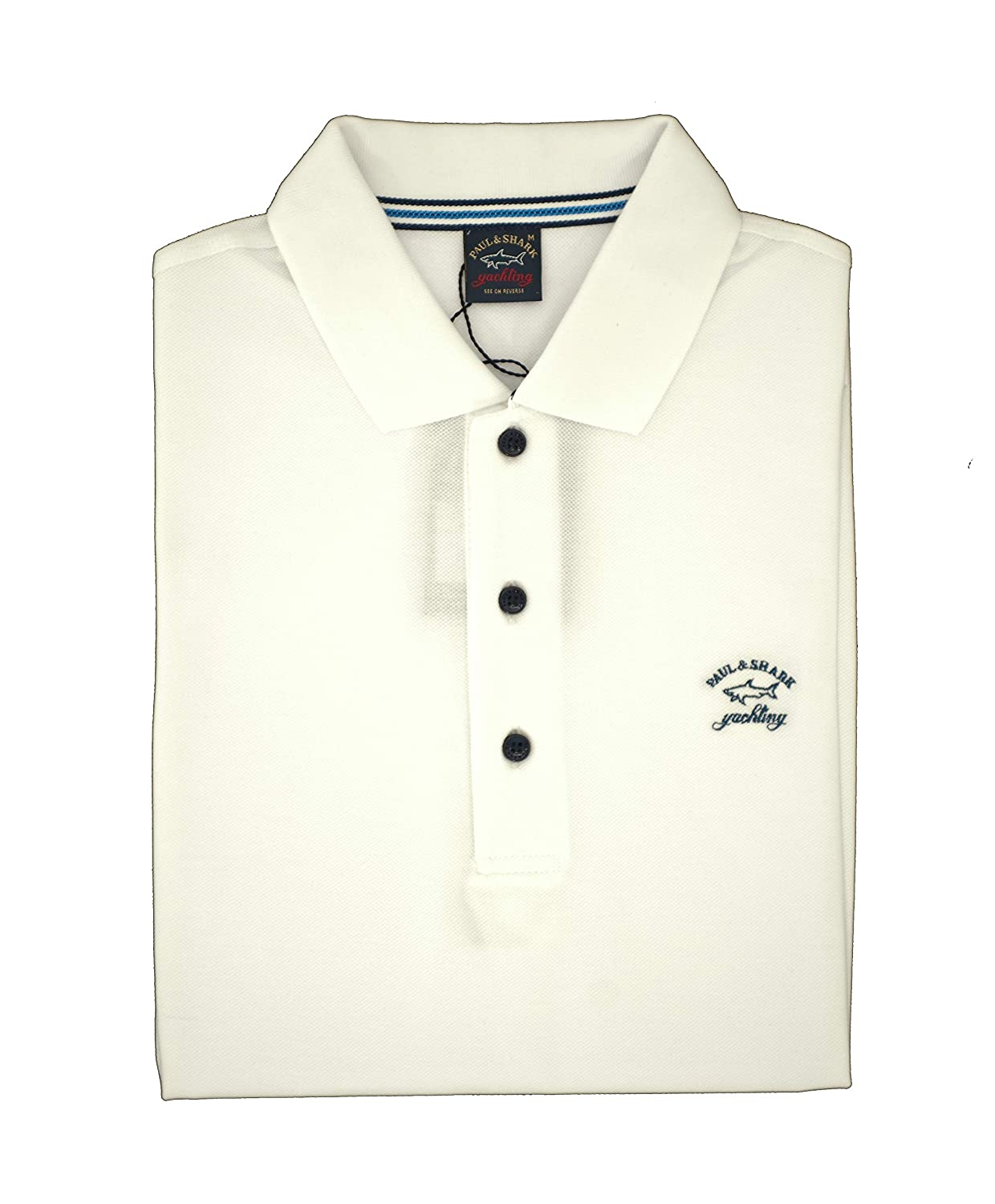 PAUL & SHARK Polo, Informal, Regular, algodón Bianco L: Amazon.es ...
