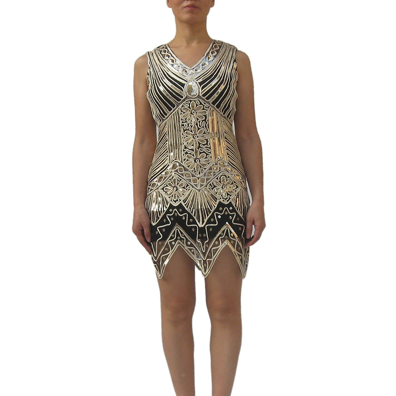 Pink Black Sequin Ombre Flapper Dress Adult Womens Costume NEW Roaring 20s 1920