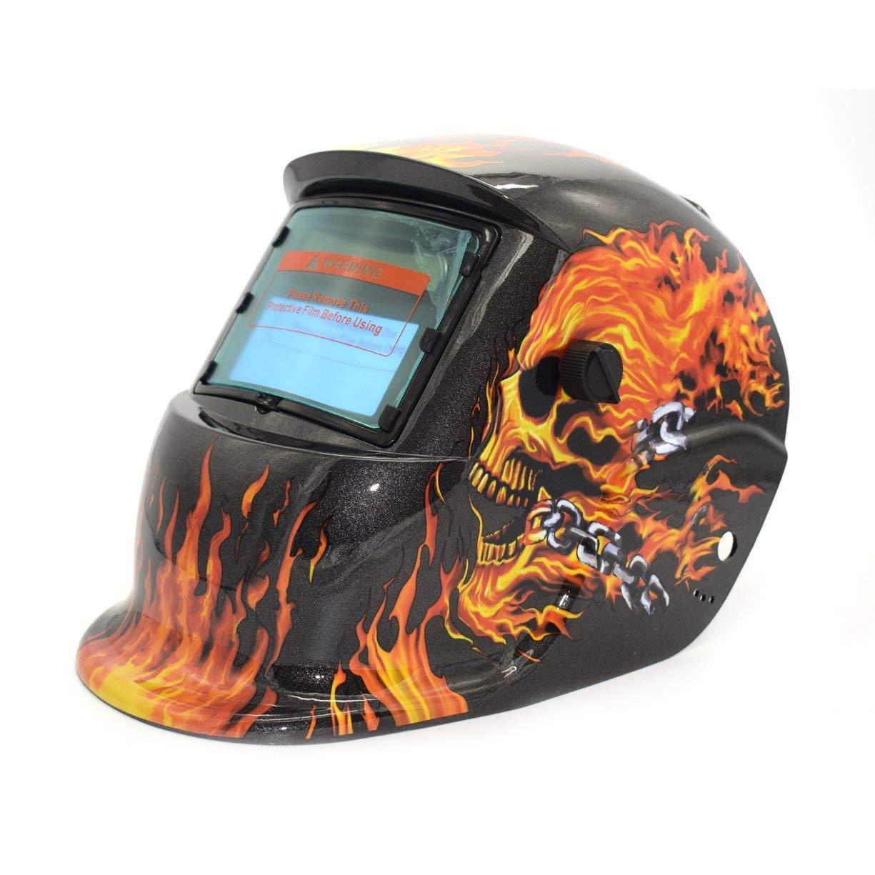 Welding Mask, Solar Powered Auto Darkening TIG MIG MMA Electric Welding Mask Helmet Welder Cap Lens For Welding Machine Plasma Cutter