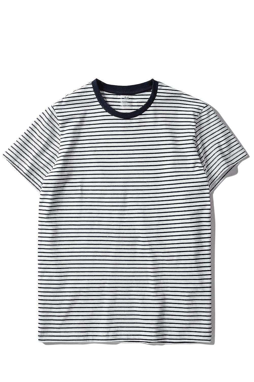 White & Navy Stripes