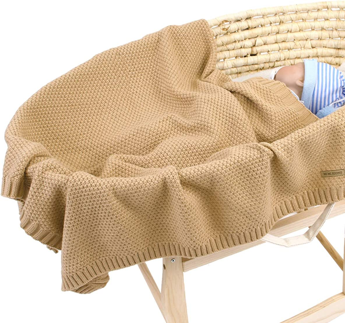 saco de dormir para guarder/ía Manta de ganchillo para reci/én nacido para ni/ños y ni/ñas Borlai 39.4 x 31.5 pulgadas rosa rosa Talla:100 x 80cm manta de punto c/álido